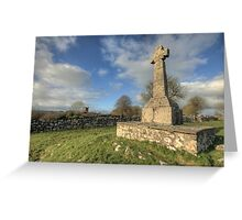 Dysert o Dea Celtic cross Greeting Card