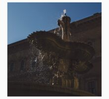 Rome's Fabulous Fountains - Piazza Farnese Fountain One Piece - Short Sleeve