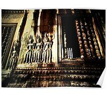 Bas relief @ Angkor Wat Poster
