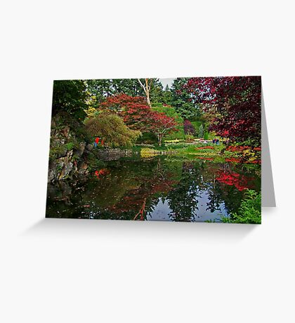 Butchart Gardens in the Fall Greeting Card