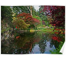 Butchart Gardens in the Fall Poster