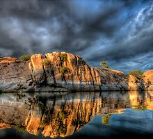 Big Rock Reflect Wide by Bob Larson
