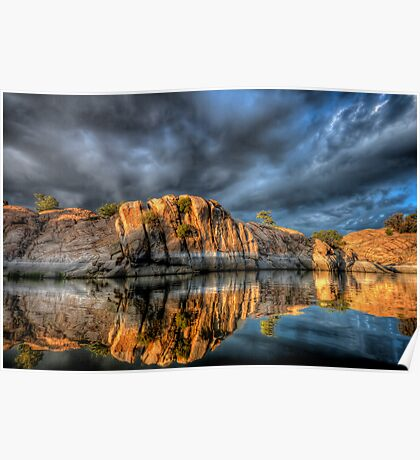Big Rock Reflect Wide Poster
