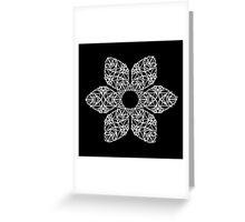 White flower on black Greeting Card