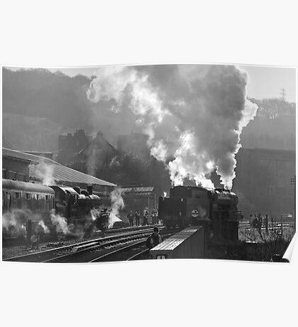 Steam Scene Poster