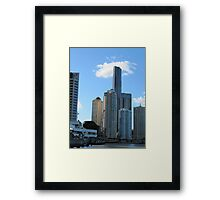 A Group of modern Hi Rise, taken from Ferry. Brisbane. Qld. Framed Print