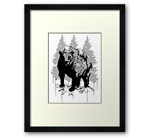 Grizzly bear drawing Framed Print