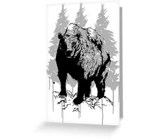 Grizzly bear drawing Greeting Card