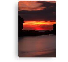 Sorrento Ocean Beach sunset Canvas Print