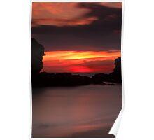 Sorrento Ocean Beach sunset Poster