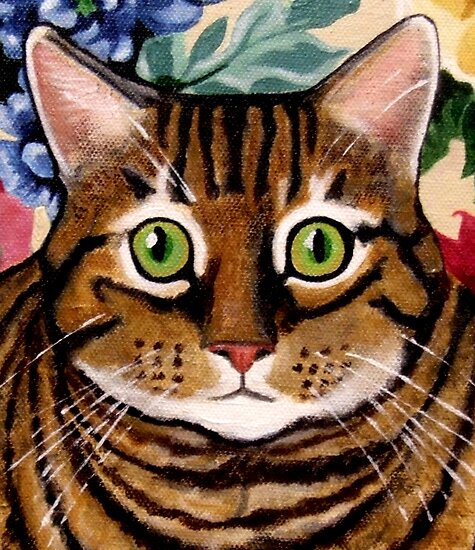 Tawny Tabby Portrait by Anni Morris