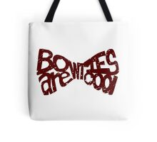 Bowties Are Cool Tote Bag