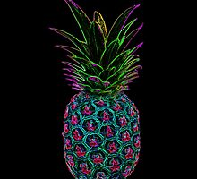 Neon Pineapple by UViolet
