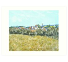 Village of Varaignes, France Art Print