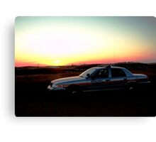 Patrol in God's Country Canvas Print