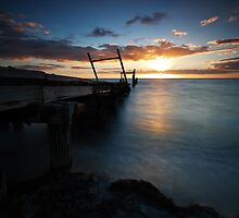 Golden Hour at Elwood Pier  by Andrew Widdowson