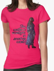 She walks in Starlight... Womens Fitted T-Shirt