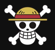 straw hat pirates flag Kids Clothes