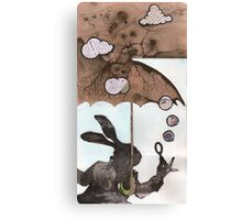 Mr. Rabbit learns from Wilhelm Reich Canvas Print