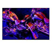 Rivalry - Harley v Yamaha Photographic Print