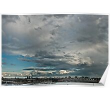The Calm After The Storm - Melbourne Docklands Poster