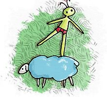 Sheep balancing by nellbell
