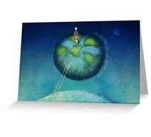 the world is at your feet Greeting Card