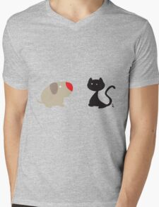The cat and the dog Mens V-Neck T-Shirt