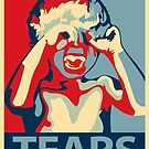 TEARS - crybaby stencil by waxmonger