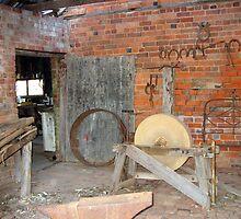 Relics from a Bygone Era (East Loddon station blacksmith shop) by Julie Sleeman