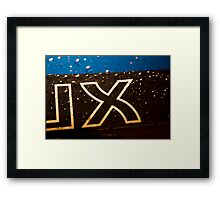 X factor Framed Print