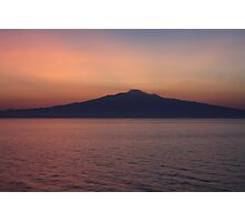 Sunset silhouette of Mt. Etna  Photographic Print
