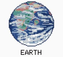 Pixel Planet - Earth Baby Tee