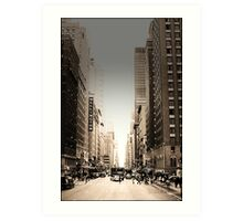 Manhattan Streetscape Art Print