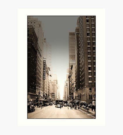 Manhattan Streetscape Art Print