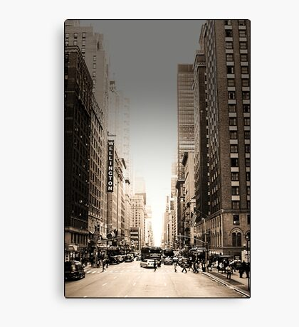 Manhattan Streetscape Canvas Print