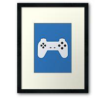 PlayStation Controller White Framed Print
