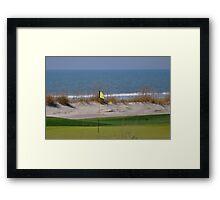 ocean golf Framed Print