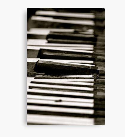 Dead Piano Canvas Print