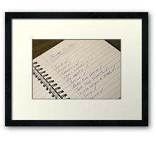 "The ""To Do"" List Framed Print"