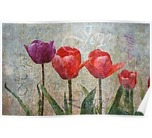 Joy with Tulips Poster