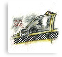 Happy Sad Taxi Canvas Print