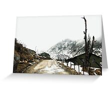 A mountain road. Greeting Card