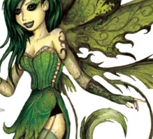 Green Fairy Sticker