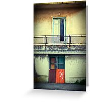 One window :: One door Greeting Card