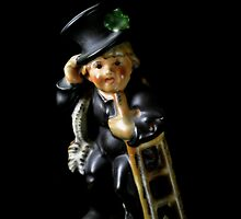 Flowers in the Window - Chimney Sweep Figurine II by Roy Salter