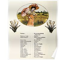 Language of Flowers Kate Greenaway 1884 0046 Descriptions of Specific Flower Significations Poster
