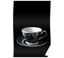 Flowers in the Window - English Tea Cup II Poster