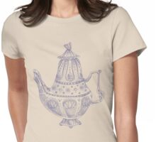 Tea Pot Doodle Womens Fitted T-Shirt