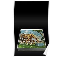 Flowers in the Window - Horse Puzzle I Poster